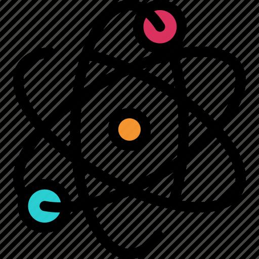 atom, molecule, nuclear, power icon