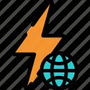 eco, energy, green, power icon
