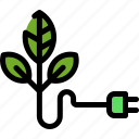 energy, green, nature, power icon