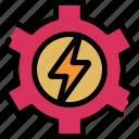 development, energy, power, setting icon