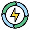 eco, electric, energy, green, power, sustainable icon