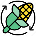 biomass, corn, energy, ethanol, sustainable icon