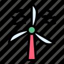 energy, power, sustainable, wind, wind turbine, windmill icon