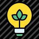 eco, energy, green, light bulb, sustainable icon