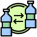 bottle, bottles, ecology, environment, recycle, recycling, water icon