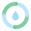 eco, energy, green, power, sustainable, water icon