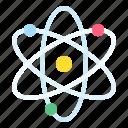 atom, energy, science, sustainable icon