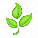 cartoon, eco, ecology, green, leaf, nature, plant icon
