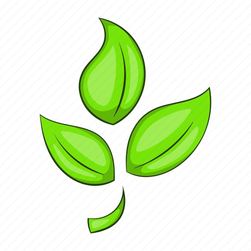 Cartoon, eco, ecology, green, leaf, nature, plant icon - Download on Iconfinder