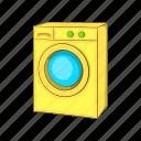 appliance, cartoon, housework, illustration, laundry, machine, washing machine icon