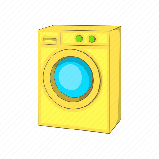 Appliance, cartoon, housework, illustration, laundry, machine, washing machine icon - Download on Iconfinder