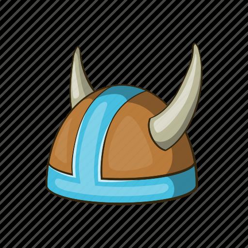 armor, cartoon, helmet, horned, medieval, viking, warrior icon