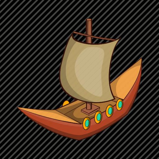 Ancient, boat, cartoon, dragon, sail, ship, viking icon - Download on Iconfinder