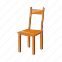 cartoon, chair, furniture, illustration, object, vintage, wooden icon
