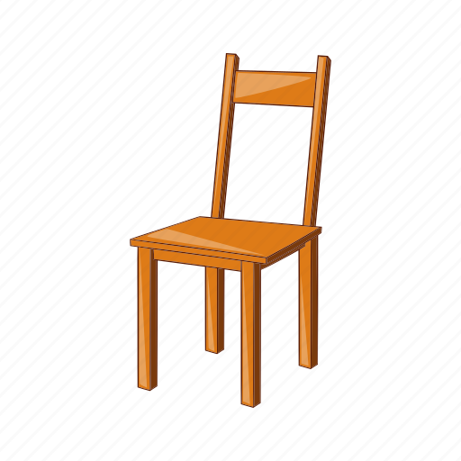 Cartoon, chair, furniture, illustration, object, vintage, wooden icon - Download on Iconfinder
