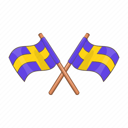 cartoon, country, emblem, flag, state, sweden, swedish icon
