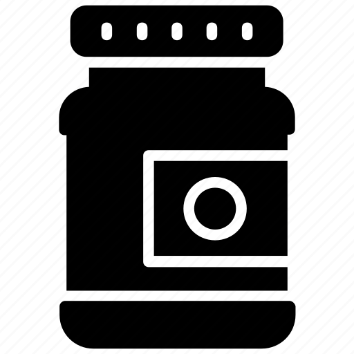 container, eatables container, flask, jar, vessel icon