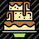 baked, birthday, cake, celebration, wedding