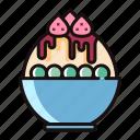 bingsoo, bingsu, dessert, fruit, ice, sweet, tasty icon