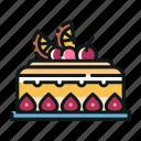 bakery, cake, dessert, fruit, fruitcake, sweet icon