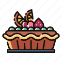 bakery, dessert, fruit, homemade, pie, sweet, tart icon