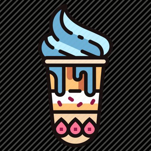 dessert, ice-cream, icecream, refreshment, sundae, sweet, tasty icon