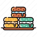 bakery, biscuit, dessert, macaron, macaroon, sweet icon