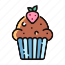 bakery, cake, cupcake, dessert, homemade, muffin icon