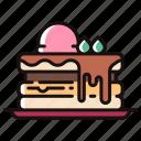 baked, bakery, dessert, homemade, pancake, sweet icon