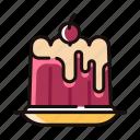 dessert, homemade, jelly, pudding, sweet, tasty icon