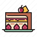 bakery, cake, dessert, fruit, strawberry, sweet, cheese