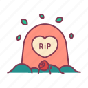 death, flower, graveyard, love, missed, remembered, rest in peace icon