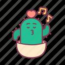 cactus, hum, love, music, plant, sing, valentine icon