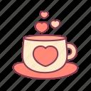 love, hot, heart, drink, coffee, like, valentine