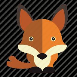 animal, fox, sweet, sweet fox icon