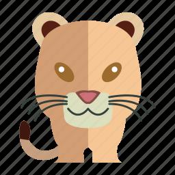 animal, sweet, sweet tiger, tiger icon