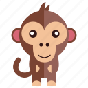 animal, jung, monkey, sweet monkey icon