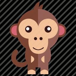 animal, jung, monkey, sweet monkey icon
