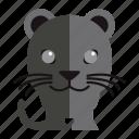 animal, jung, panther, sweet panther icon