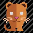 animal, jung, sweet tiger, tiger icon