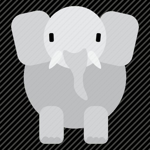 animal, cute, elephant, fat, sweet, wild, zoo icon