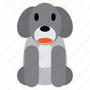 animal, cute, dog, grey, pet, puppy, sweet icon
