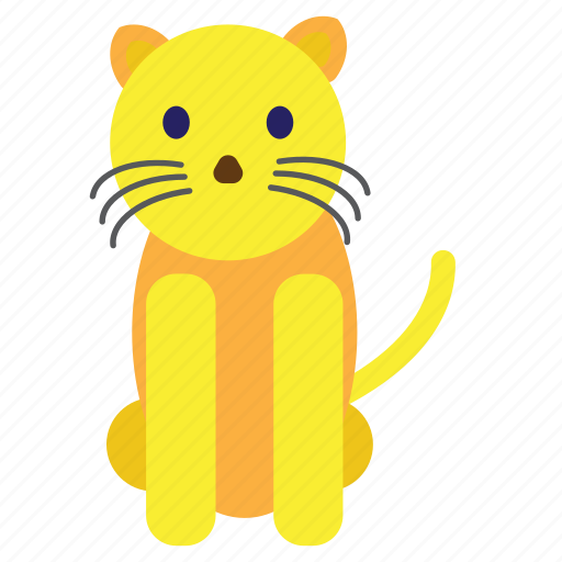 animal, cat, cute, pet, sweet, yellow icon