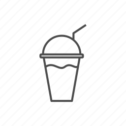 candy, juice, line, outline, sweet, water icon
