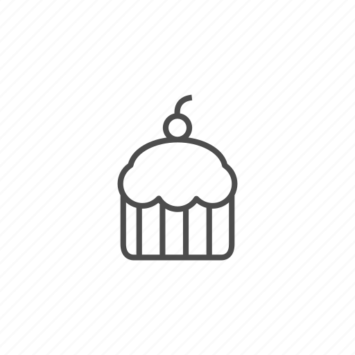 cake, candy, dessert, line, outline, pie, sweet icon