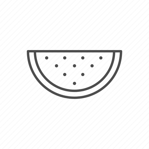 candy, line, melon, outline, sweet, water icon