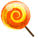 candy, lollipop, orange icon