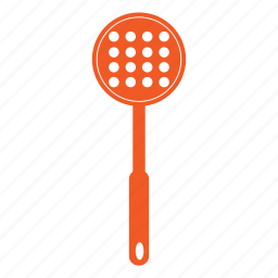 cook, cooking, kitchen, slotted, spoon, tool, utencil icon