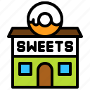 candy, confectionery, donut, shop, store, sweets