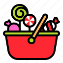 basket, candy, confectionery, lollipop, sweets, sweets basket